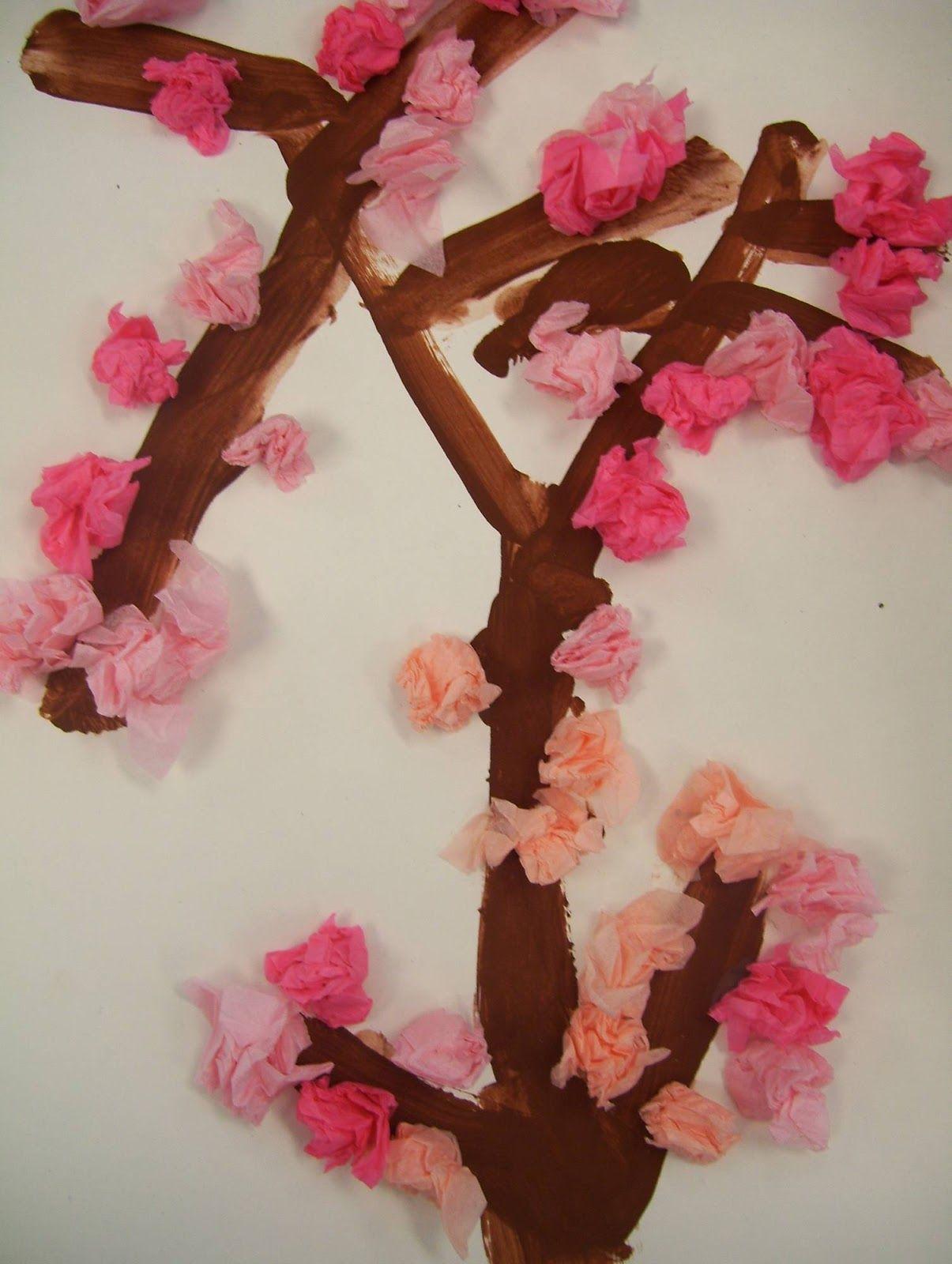 Art Room 104 Next Kindergarten Unit Cherry Blossoms Kindergarten Art Projects Kindergarten Art Spring Art Projects