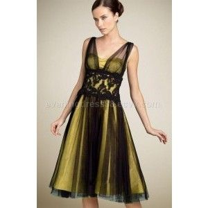 black and yellow dress - Dress Yp