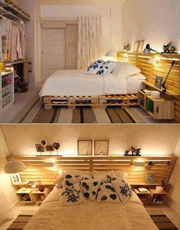 pallettbett Möbel selbstgemacht Pinterest Palettenmöbel - runde betten schlafzimmer moebel ideen