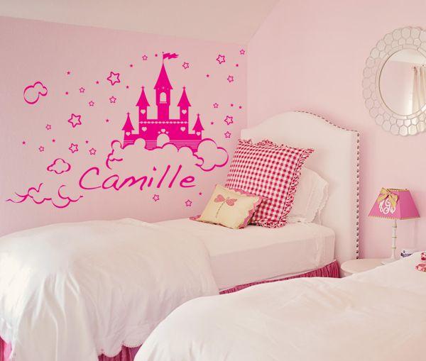 Sticker Chateau de Princesse à personnaliser bébé 2 Pinterest