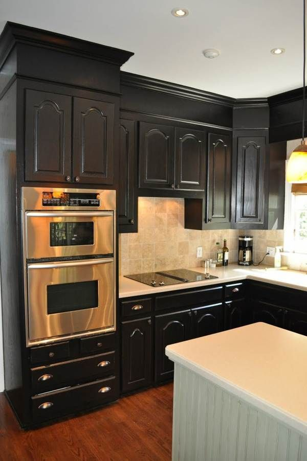 kitchens with black appliances related to black kitchen cabinets with stainless steel. Black Bedroom Furniture Sets. Home Design Ideas