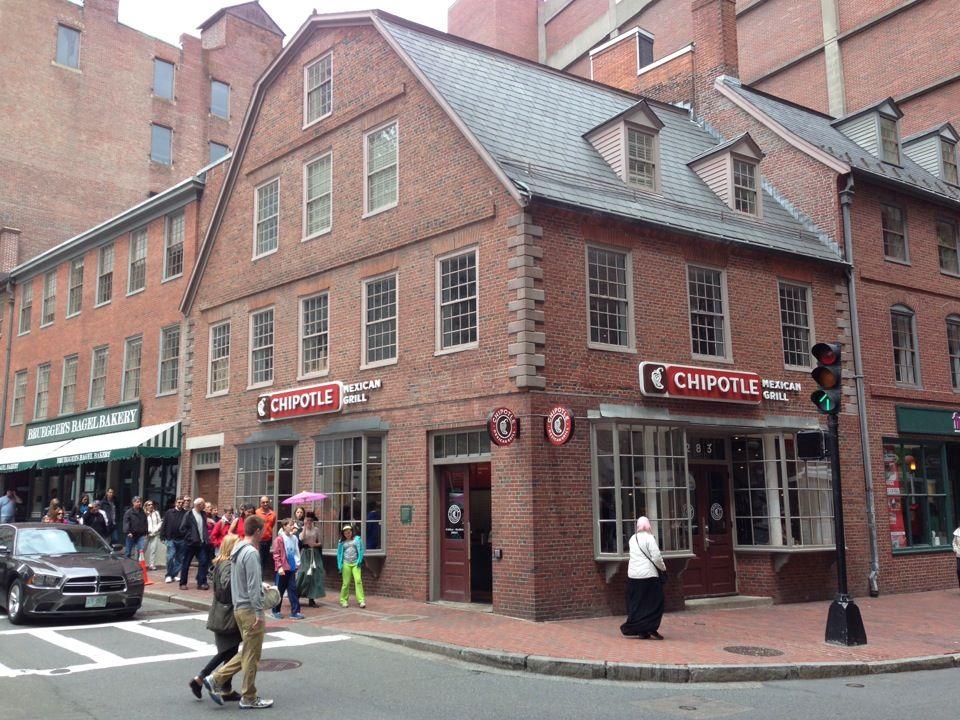 Old Corner Bookstore in Boston, MA