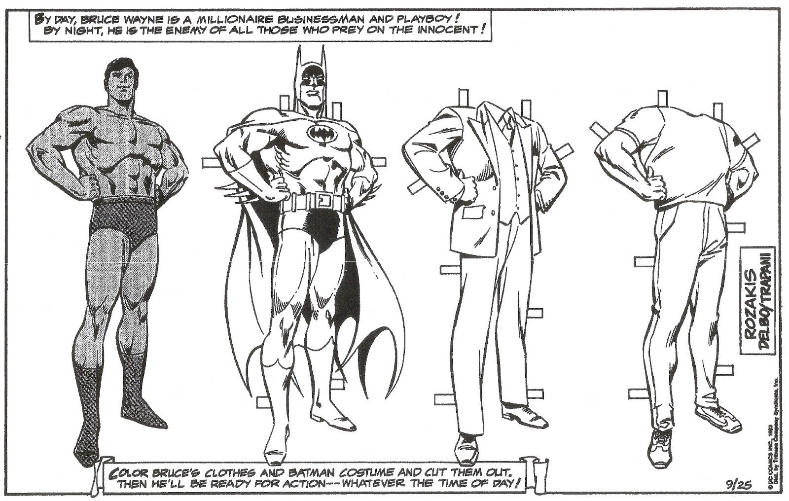 Mostly Paper Dolls Too The Superman Sunday Special Comic Strip Paper Dolls Sunday Special Superman Pictures