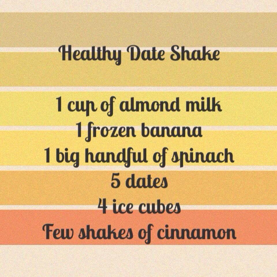 Healthy date shake