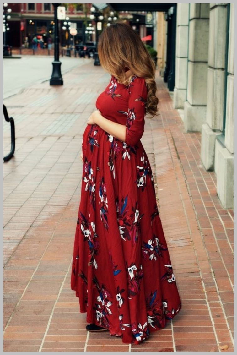Hot pink maternity maxi dress  Maternity Fashion Trendy Maternity Fashion  For more information