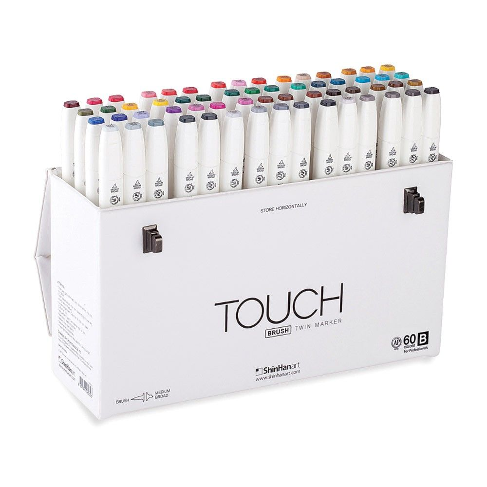 Vibrant And Versatile Sets Of Double Ended Artists Markers Newly Redesigned Touch Twin Markers From Shinhan Papermate Inkjoy Gel Pens Markers Set Marker Art