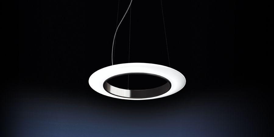 Glasring pendant luminaire by rzb leuchten