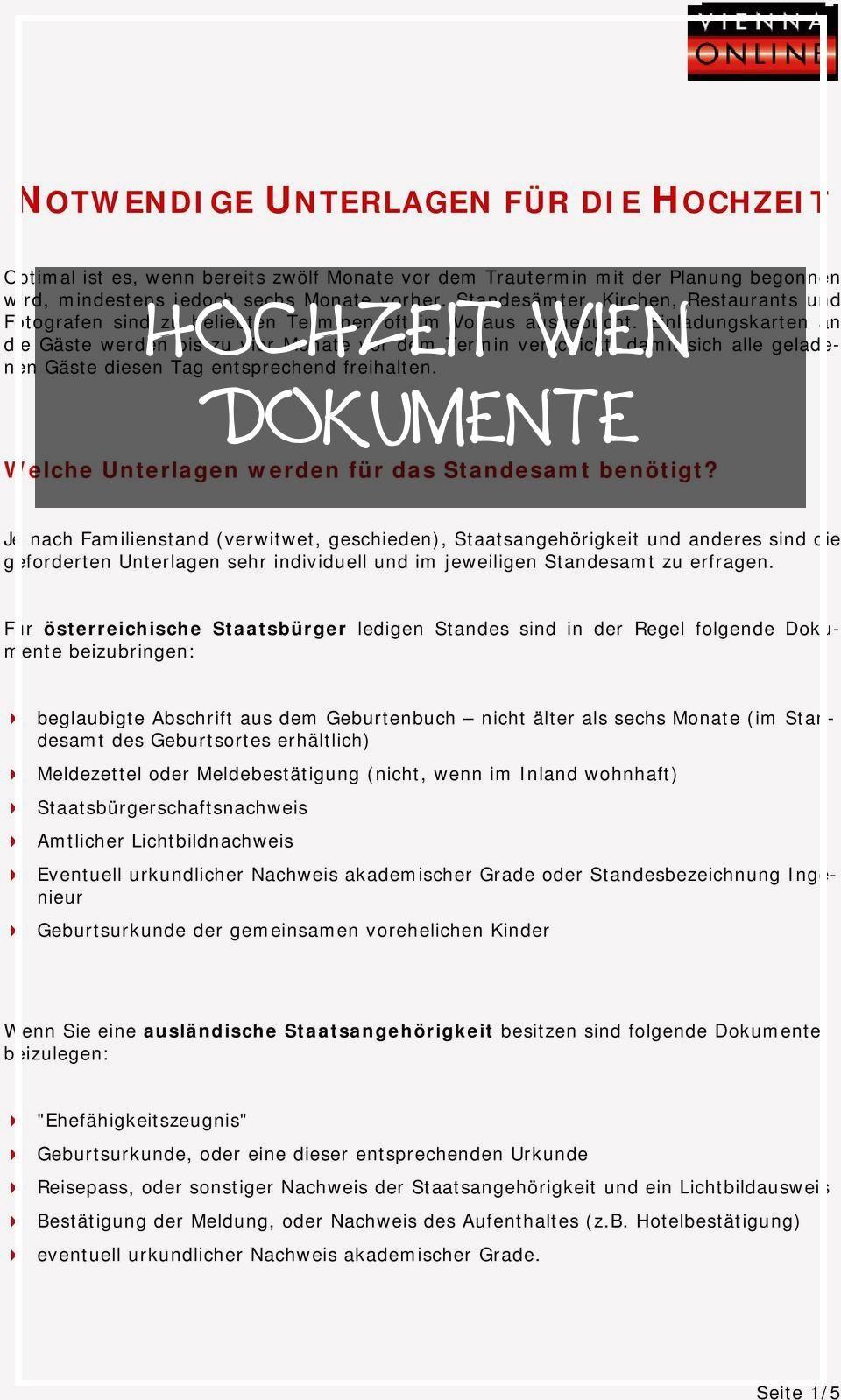 Large 20 Hochzeit Wien Dokumente Wedding Concept