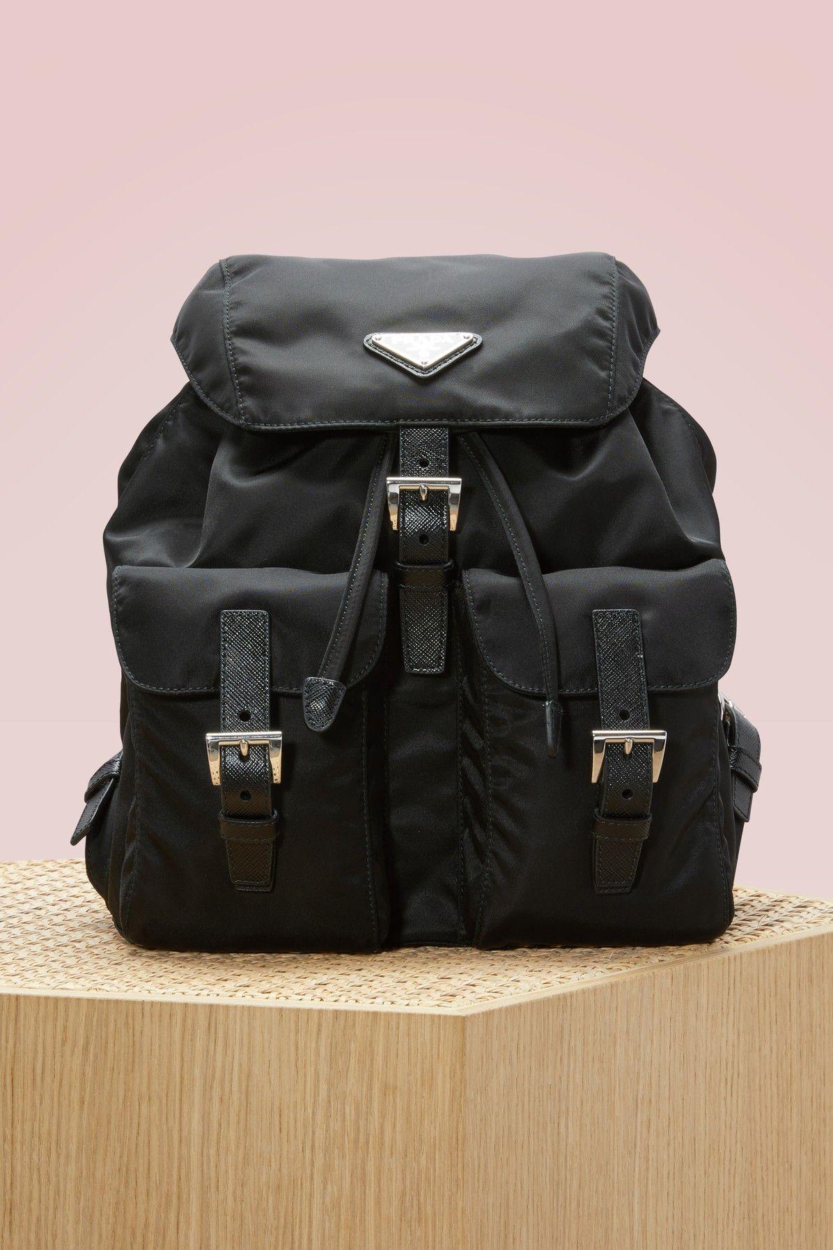 b657e5e5862d34 PRADA Vela backpack. #prada #bags #leather #backpacks #lace ...