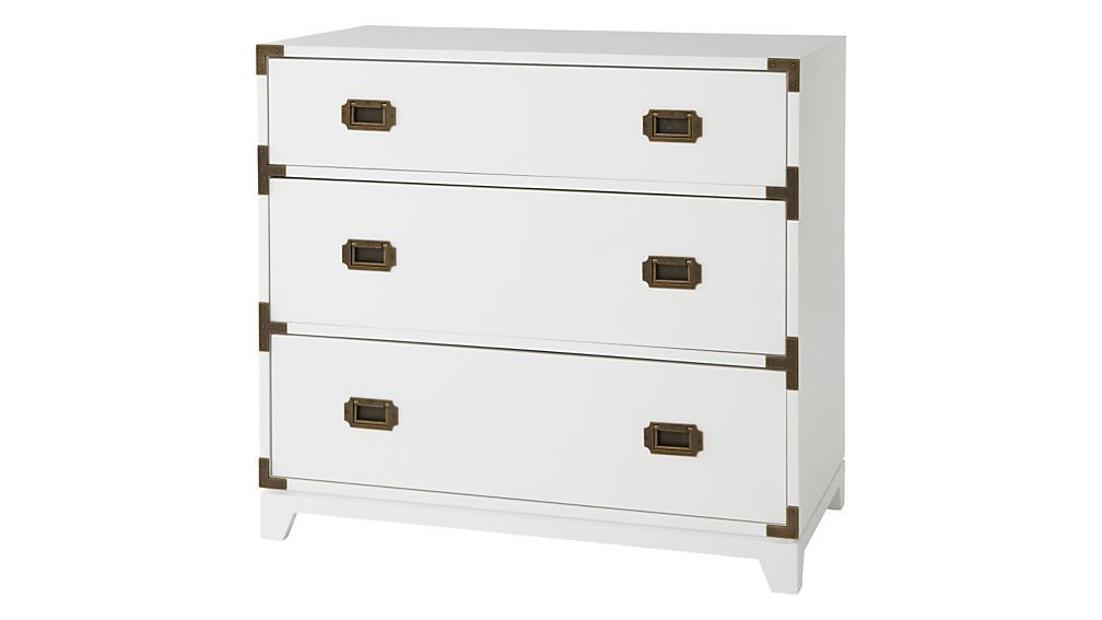 Kids White Campaign 3 Drawer Dresser Reviews Crate And Barrel Campaign Dresser Dresser Drawers Kids Furniture Dresser