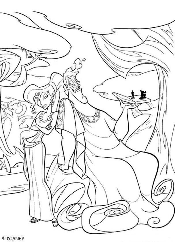 Hercules Coloring Book Pages Zeus And Hera Paginas Para