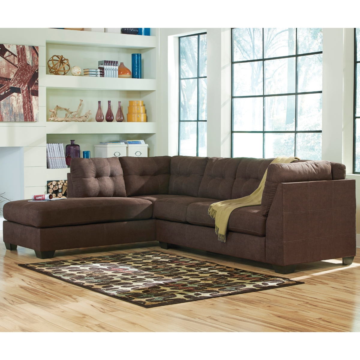 Fantastic Flash Benchcraft Maier Sectional Left Side Facing Chaise In Ibusinesslaw Wood Chair Design Ideas Ibusinesslaworg