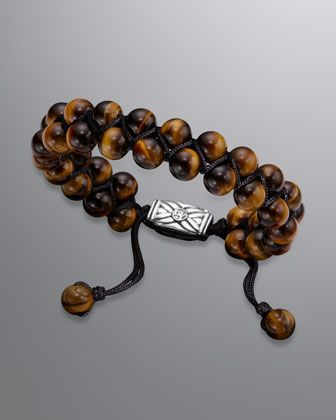 fa03977f68b60 Spiritual Beads Two-Row Bracelet with Tiger's Eye | My Style Vybe ...