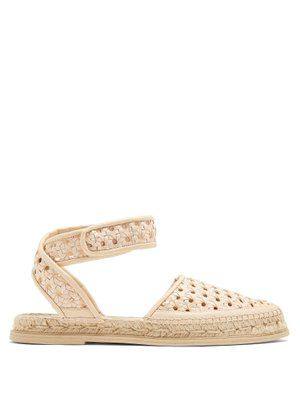 Woven-wicker espadrille sandals Stella McCartney GjDvh5k1