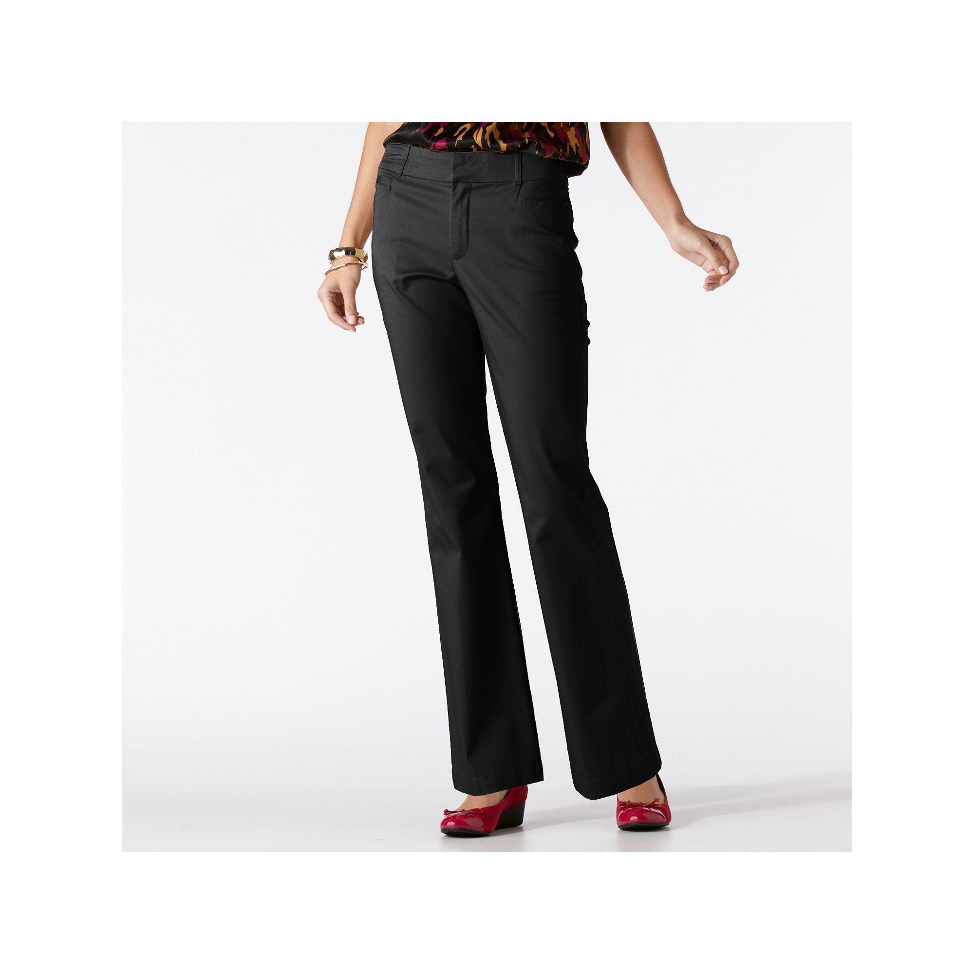 7a2e59acb53c8 Women's Gloria Vanderbilt Charlene Comfort Waist Dress Pants, Size: 8 -  regular, Black