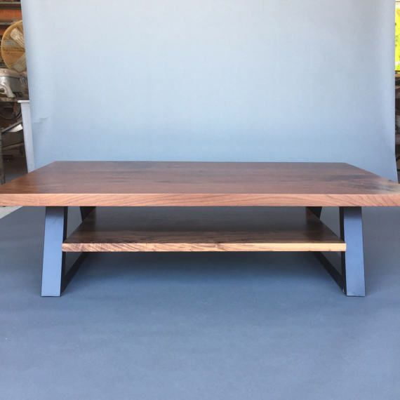Black Walnut Coffee Table by Dog and Pig Furniture Berkeley San