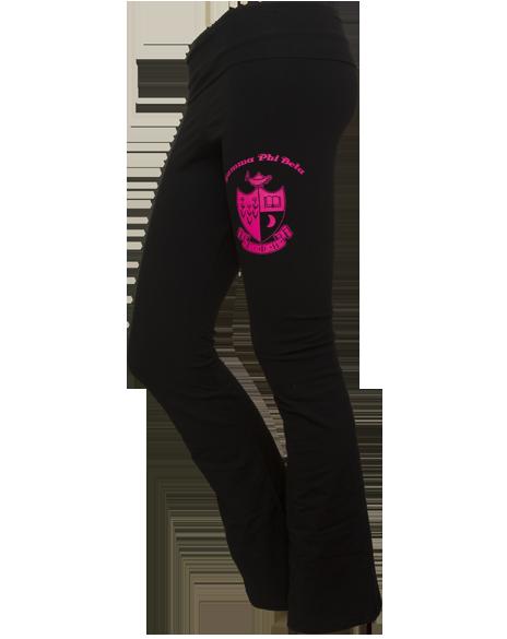 a9108b5463 Gamma Phi Beta Crest Crescent Yoga Pants | My life, my style, my ...