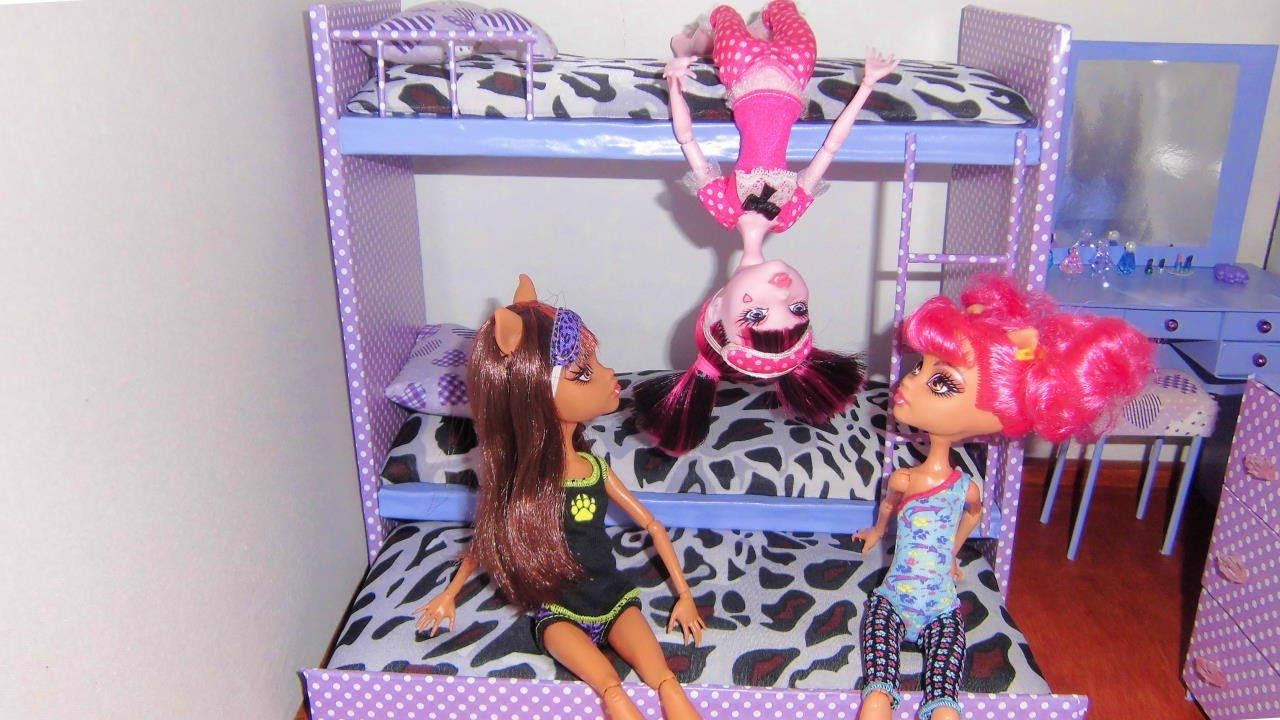 How To Make A Bunk Bed For Doll Monster High Barbie Etc Video