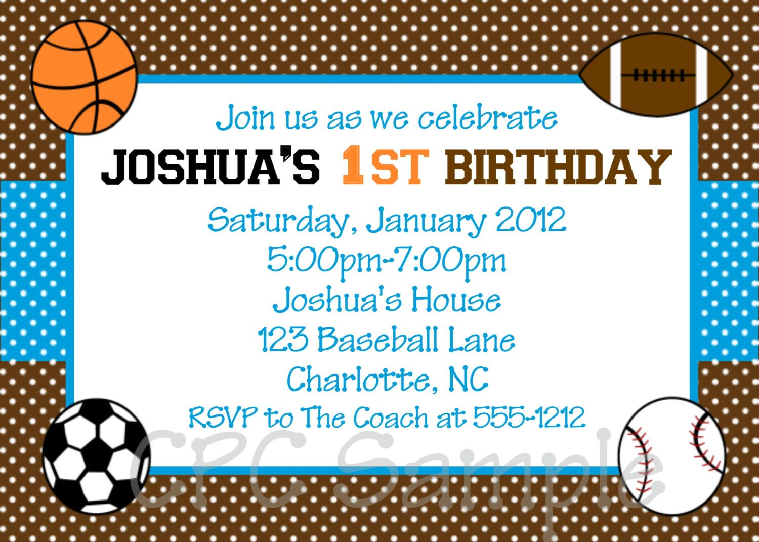 17 Best images about sports theme birthday – Sports Themed Birthday Invitations