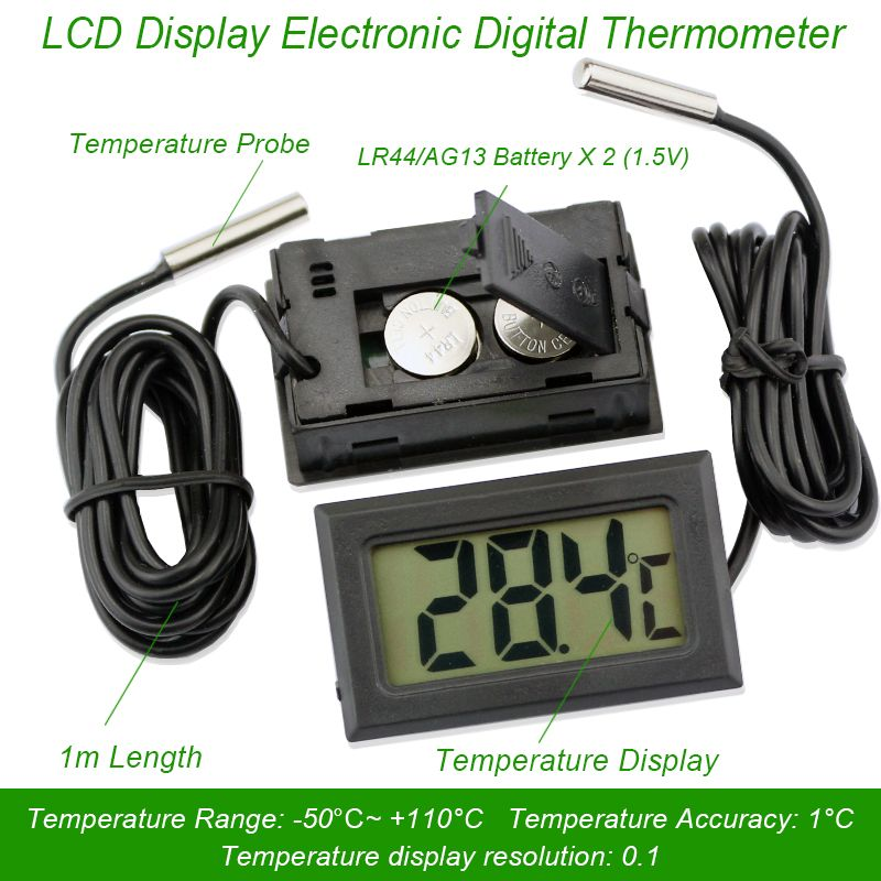 Termometro digitale termocamera elettronico auto strumenti di temperatura impermeabile sonda del sensore gauge stazione meteo meter