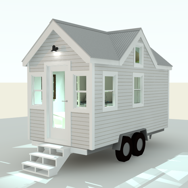 Best Albion 16 Foot Tiny House With A Cross Gable Roof Http 400 x 300