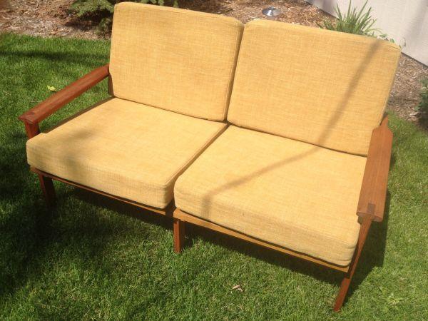 Loveseat w/ Wood Frame - $150 in Congress Park | Love seat ...