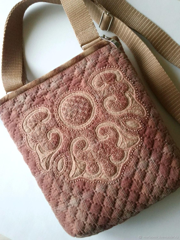 7ad4acdca889 Текстильная сумка кросс-боди. Японская техника