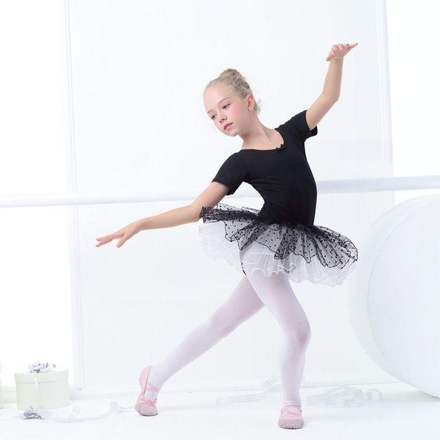 ca21eef1c Venta caliente Niñas Niños Cisne Negro Ballet Leotardo Falda de Tul ...