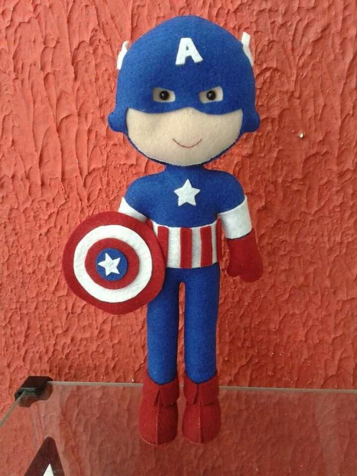 Capitão América em feltro  By Artes da Paty