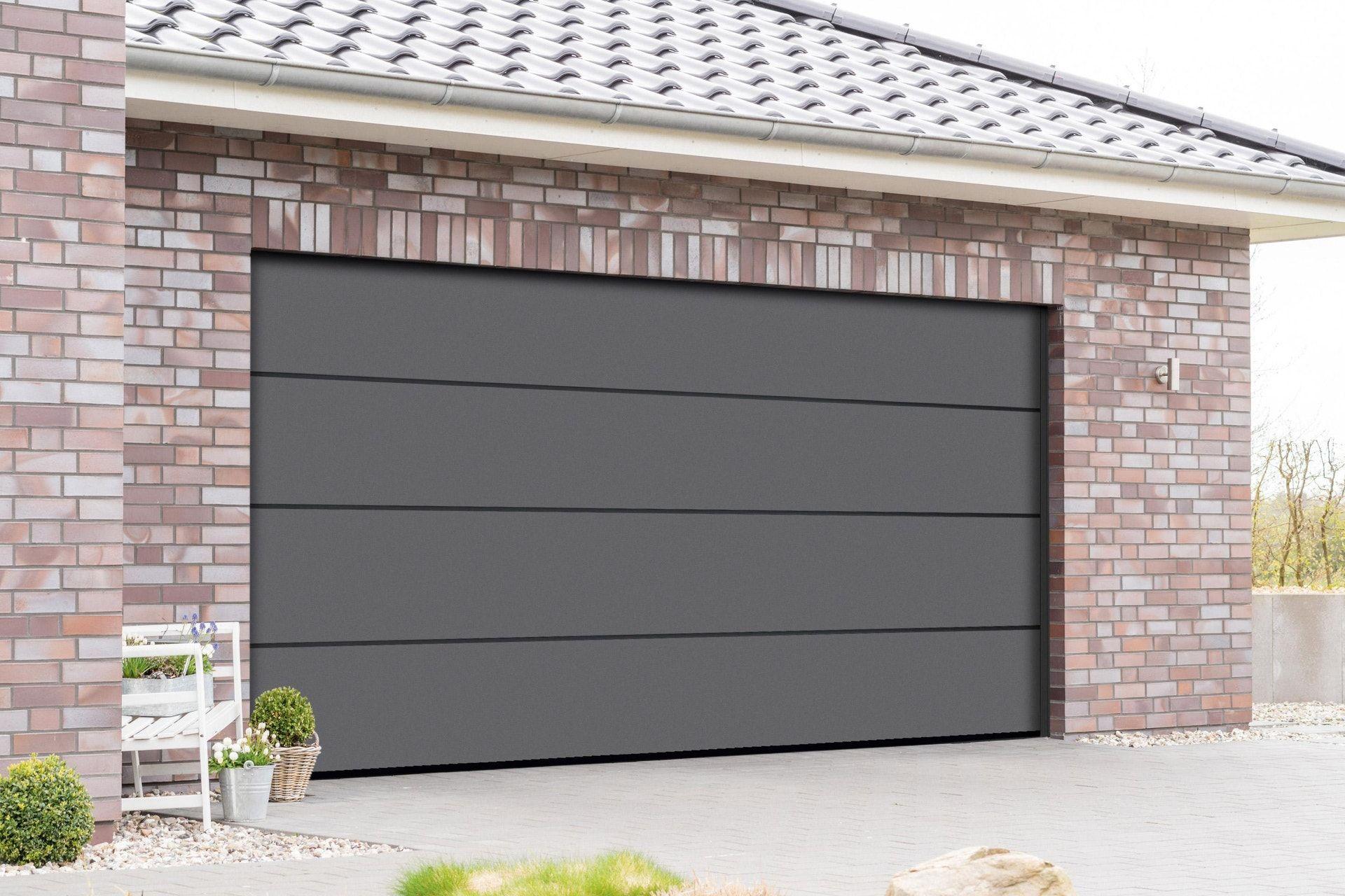 Porte De Garage Sectionnelle Motorisee Artens Premium 212 5x250 Gris En 2020 Porte De Garage Sectionnelle Porte Garage Garage