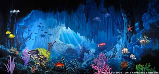 Backdrop Un062 Undersea Grotto The Little Mermaid The