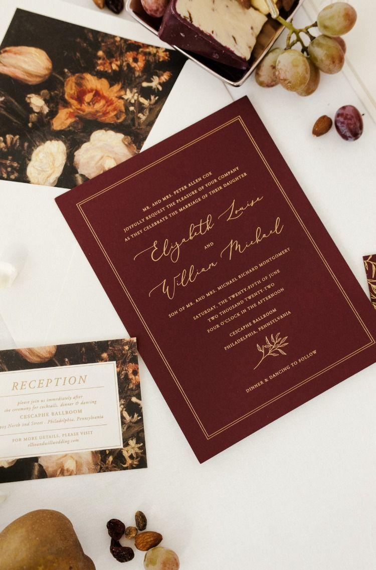 Elegant Elton Foil Stamped Wedding Invitation By Bella Figura Photo By Carina Skrob Foil Stamped Wedding Invitations Invitations Wedding Invitations