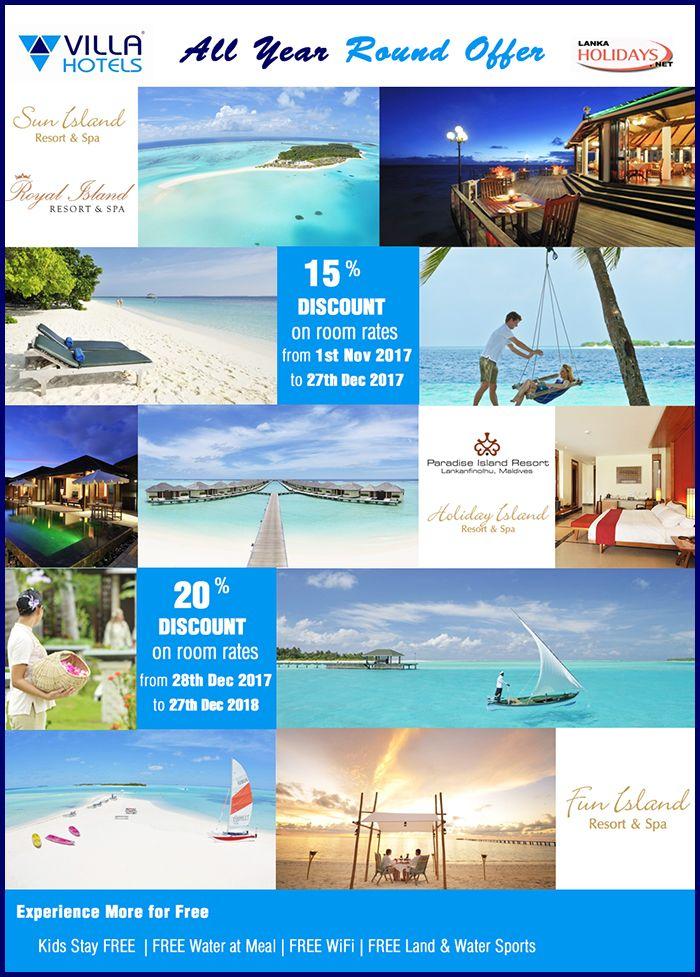 Villa Hotels All Year Round With Sri Lanka Holidays
