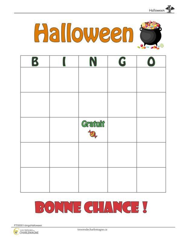 Nouvel Bingo Halloween - Trésors de Charlemagne | Halloween party RX-24