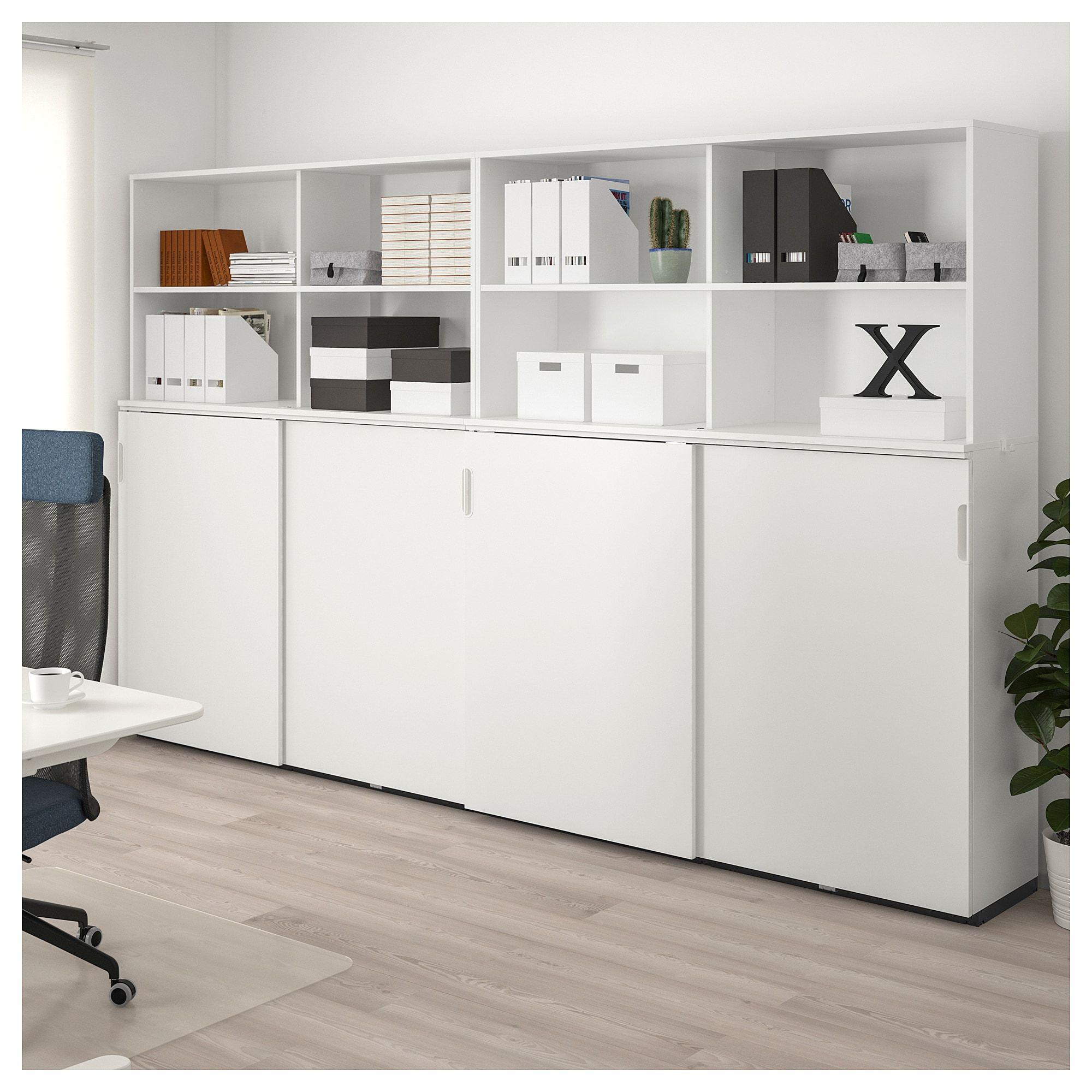 GALANT Storage combination w sliding doors white in 2019
