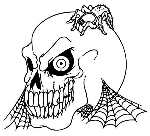 Colorea a la calavera halloween - Dibujos para pintar   Cool Things ...
