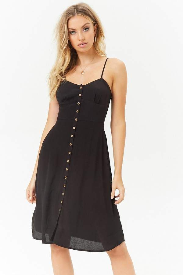 36cd58bc1d SUPER PRETTY DRESS - Check it out now - Forever 21 Button-Front Cami Dress   women  womensfashion  forever21
