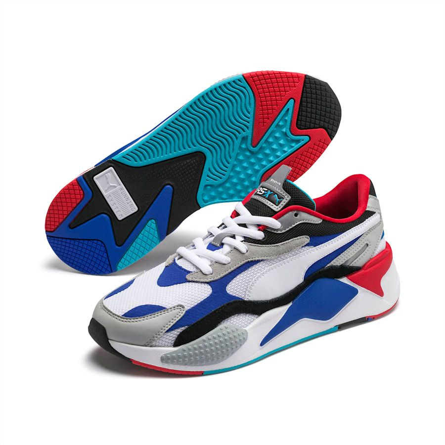 free shipping famous brand new images of PUMA Rs-X3 Puzzle Trainers in White/Dazzling Blue/Hi Rise size ...