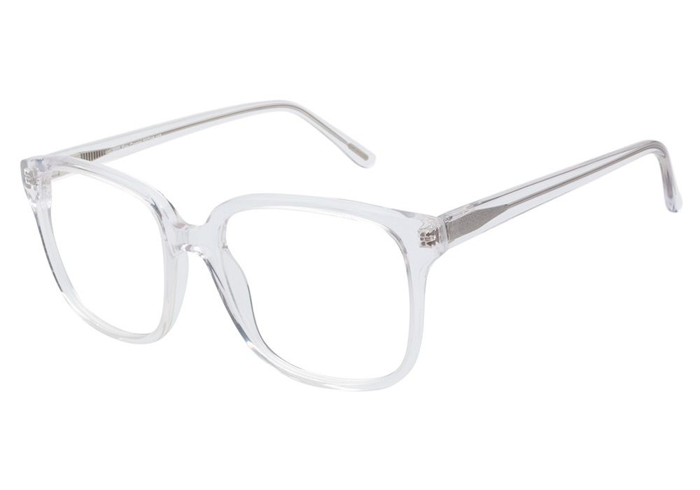 d627211ed6d Casual oversize transparent acetate eyeglasses offer an updated take on a  retro look. The Kam Dhillon 3070 Erin Crystal frames are crafted from fine  Italian ...
