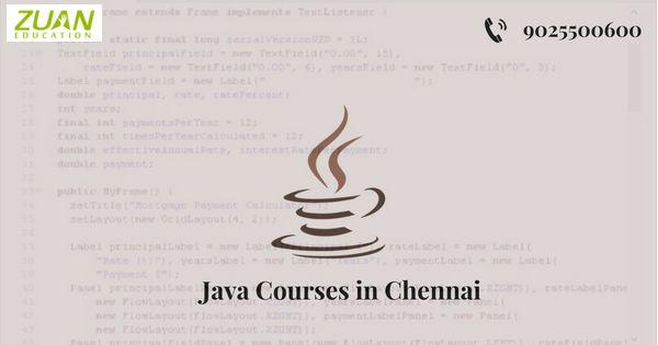 Zuan Education provides the core Java training in Chennai