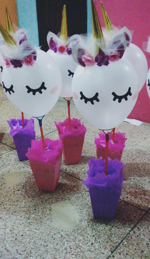 Centro de mesas UNICORNIO <3 | Decoraciones | Pinterest | Unicornio ...