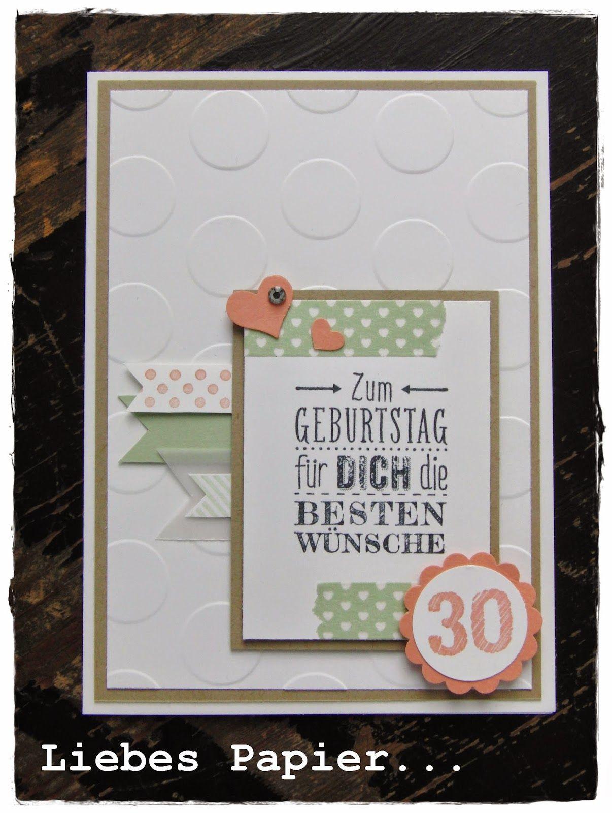 Liebes Papier Alles Liebe Zum 30 Geburtstag Einladung