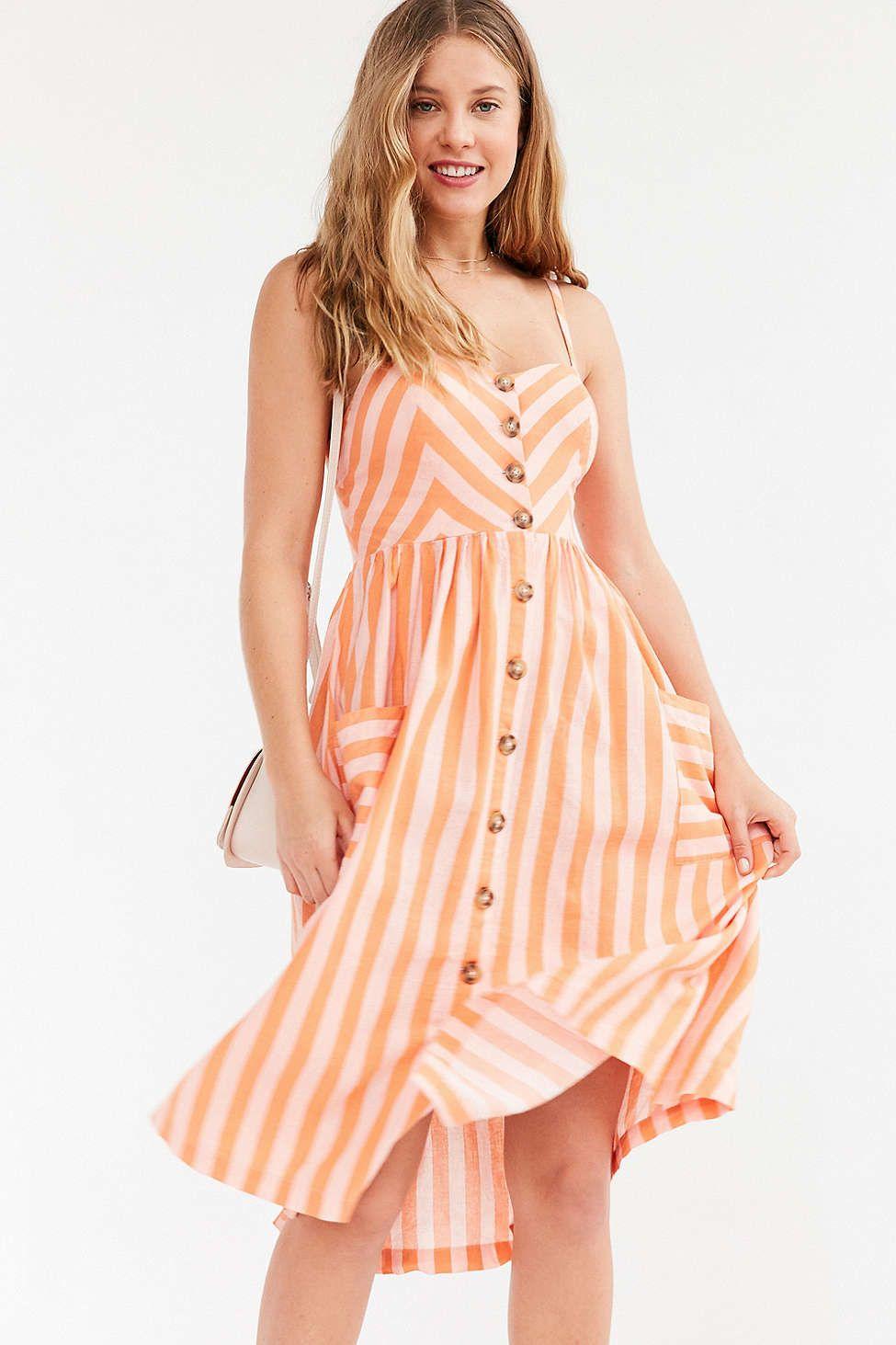 ca1aa893bc Cooperative Emilia A-Line Button-Down Midi Dress