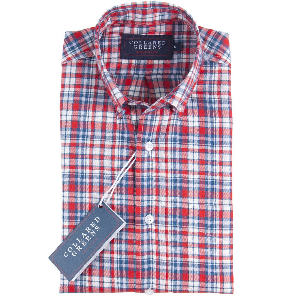 The Cary Button Down - Salmon/Carolina/White | Guy fashion