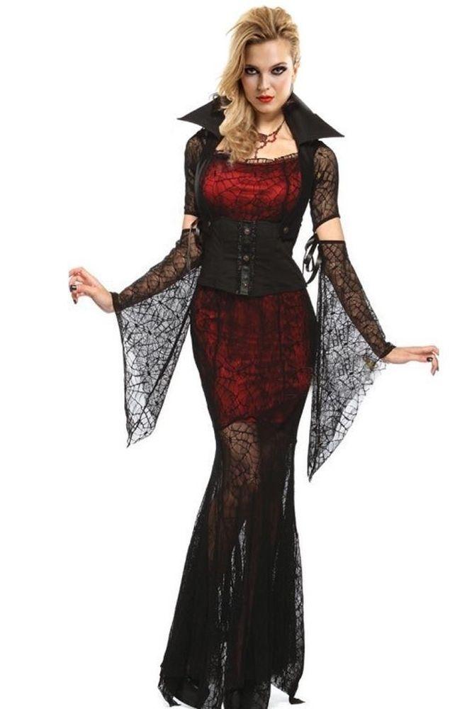 c684d3b909dc6 Sexy Women's Corset Burlesque Vampire Fancy Dress Halloween Costume Red  Black