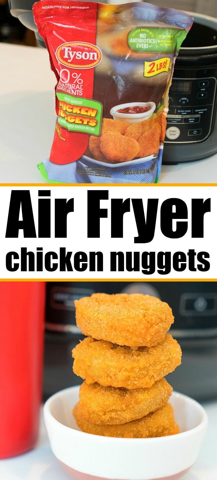 Air fryer chicken nuggets are a game changer!! SO much