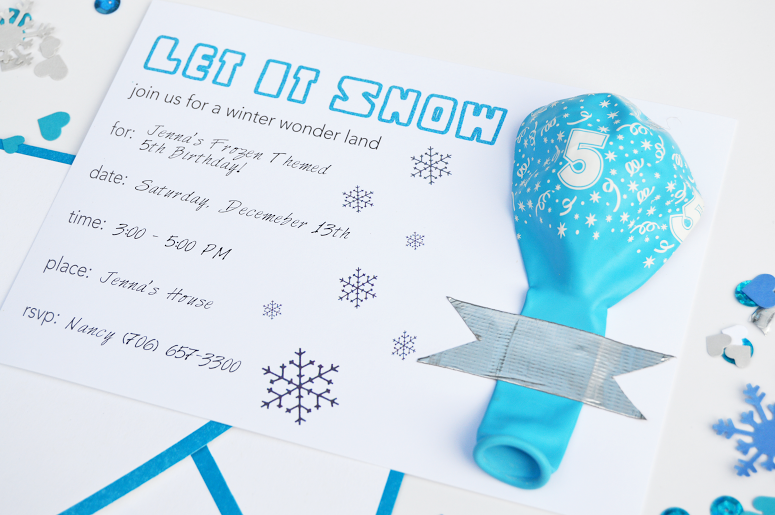 make your own frozen invitations koni polycode co