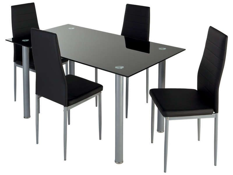 Ensemble table + 4 chaises - Conforama Tables De Cuisine