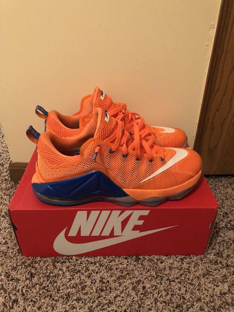 b52b173d4cc2 Nike LeBron XII Low Orange Blue Size 13