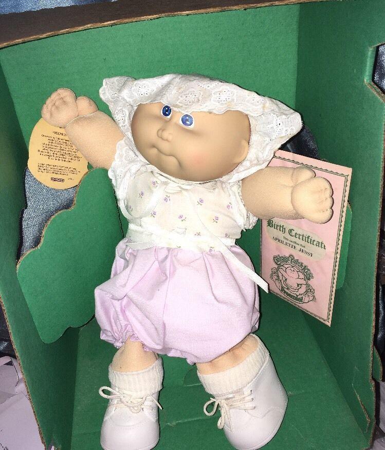 March Of Dimes Vintage 1985 Coleco Cabbage Patch Kids Preemie Aprilette Jessy